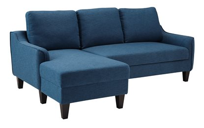 Jarreau Upholstered Sofa Chaise Sleeper Blue
