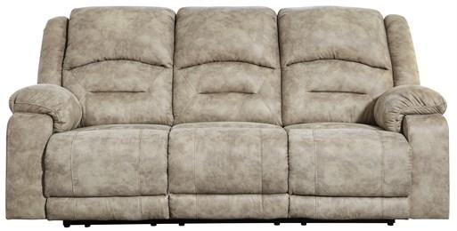 McGinty Power Reclining Sofa With Adjustable Headrest Graystone