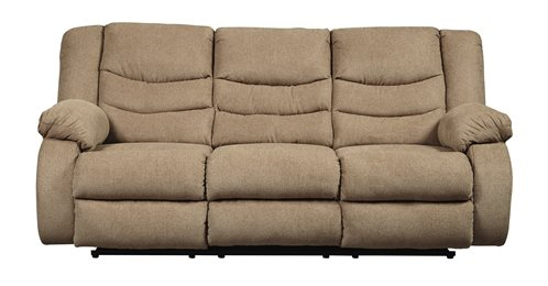 Tulen Upholstered Reclining Sofa Mocha