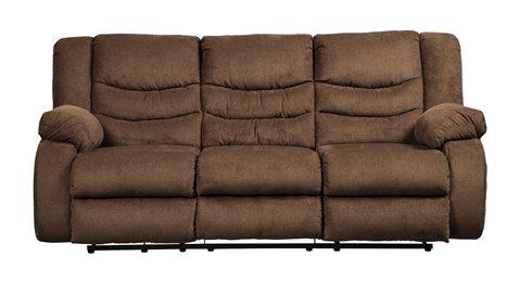 Tulen Upholstered Reclining Sofa Chocolate