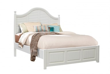 Plantation Queen Bed Cottage White