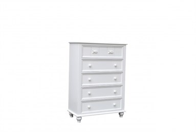 Fishtails Five Drawer Chest White