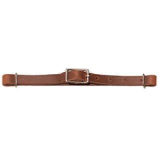 Weaver Curb Strap Leather Straight Brown