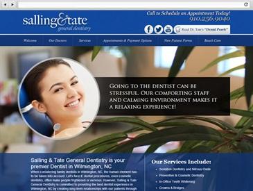 Salling and Tate - Dentist Web Design