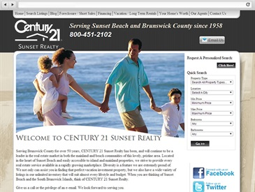 Sunset Realty Real Estate Web Design
