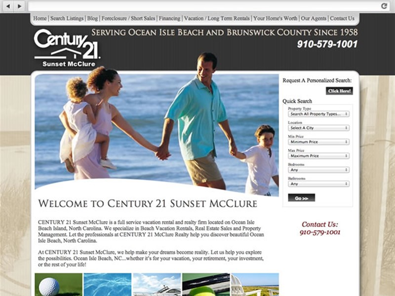 Sunset McClure Real Estate Web Design
