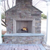 COASTROAD Custom Stone Fireplace
