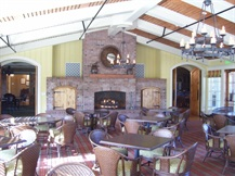 clubhouse dining room fireplace