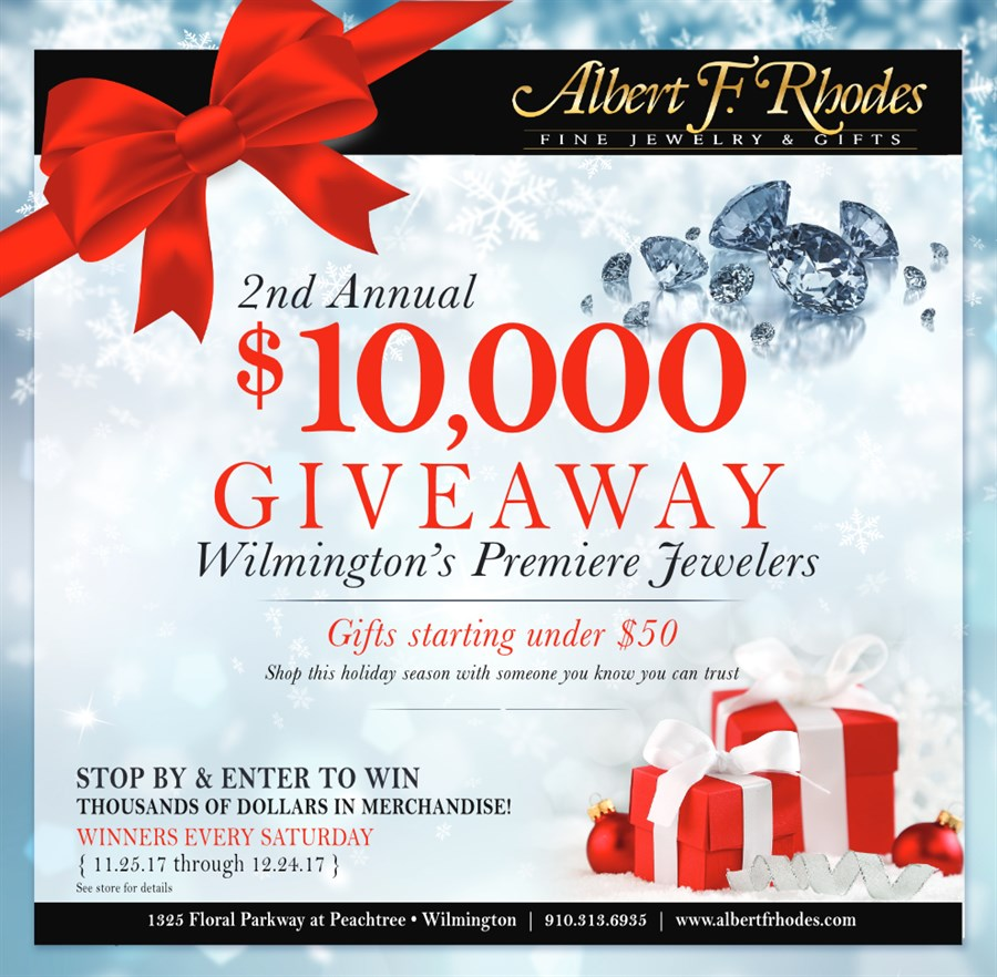 Albert F. Rhodes 2nd Annual $10,000 Giveaway