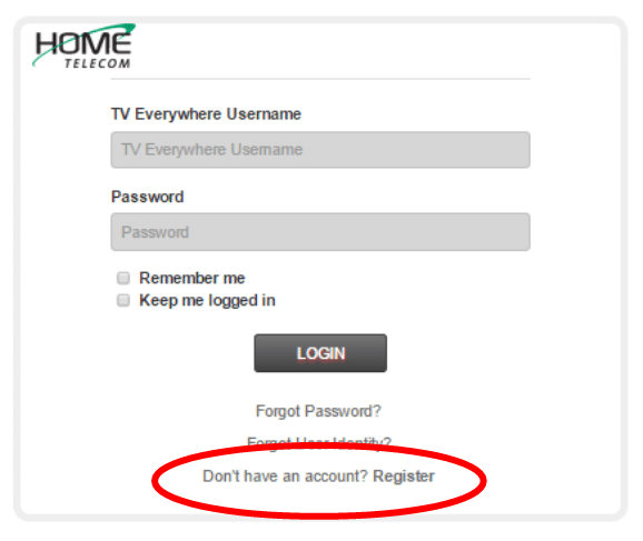 Step 3: In order to complete your registration, click the Don't have an account? Register link.