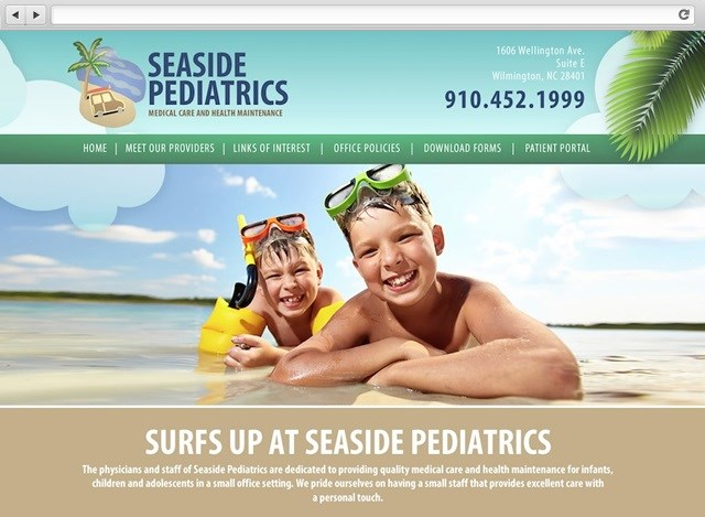 Seaside Pediatrics - Doctor Web Design