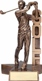 RST- Male Golf Resin Figure