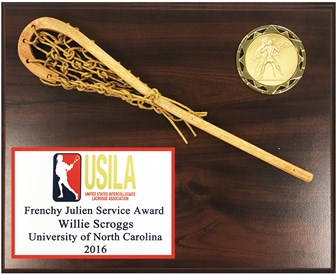 WSPC1013 - Full Color Plate Wood Stick Lacrosse Plaque