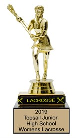 ECPB Lacrosse Trophy with removable LACROSSE bracelet **As low as $9.95*