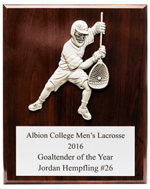 MCG810 Male Goalie Figure Lacrosse Plaque