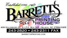 Barrett's Printing House, Inc. Logo