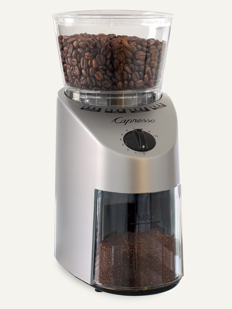 Carolina Coffee Capresso Infinity Conical Burr Grinder - Plastic Housing
