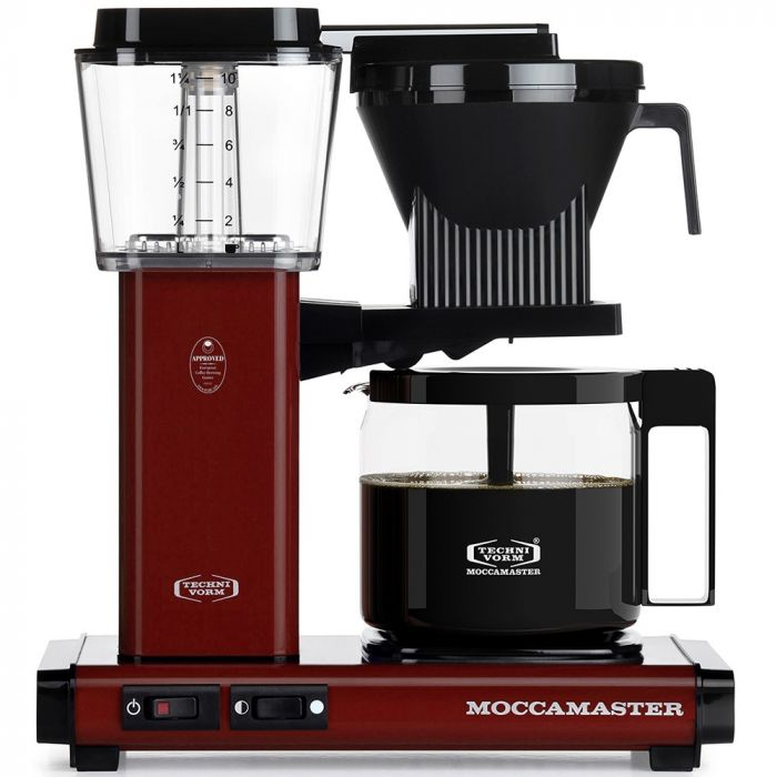 Carolina Coffee Technivorm Moccamaster KBG Automatic Drip Stop Coffee Maker With Glass Carafe - Merlot