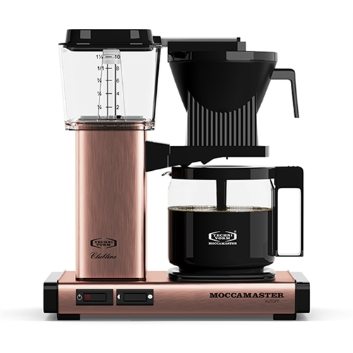 Carolina Coffee A Technivorm Moccamaster KGB Automatic Drip Stop Coffee Maker With Glass Carafe - Copper